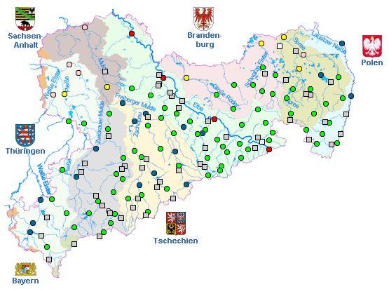 aktuelle Pegelstände in Sachsen